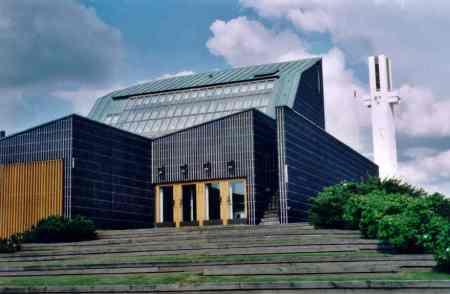 A view of Aalto Center in Seinajoki, Finland, designed by Alvar Aalto.