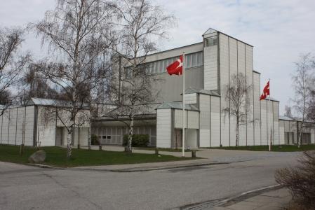 Bagsværd Church, in Bagsvaerd, Denmark, by Jørn Utzon.