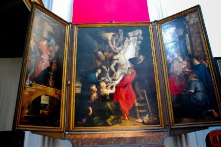 Descent from the Cross, by Peter Paul Rubens, is the center panel of an altarpiece by Peter Paul Rubens, which is located in St. Mary's Church in Antwerp, Belgium.