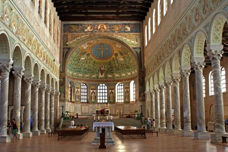 Basilica of Sant'Apollinare in Classe (549 CE). Architect: Unknown. Location: Near Ravenna.