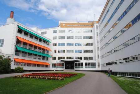 Paimio Sanatorium, by Alvar Aalto, is located in Paimio, Finland.