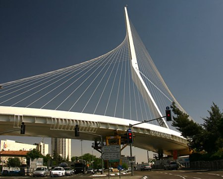 Bridge of Strings (2008). Architect: Santiago Calatrava. Location: Jerusalem, Israel.