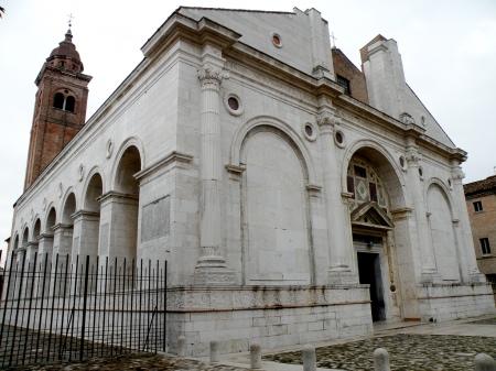 Rimini The Church of San Francesco (Tempio Malatestiano) in Rimini, Italy was designed by Leon Battista Alberti.