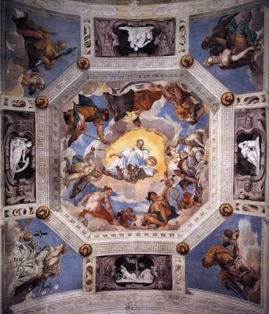 Frescoes by Paolo Veronese in the Villa Barbaro in Maser, Italy.