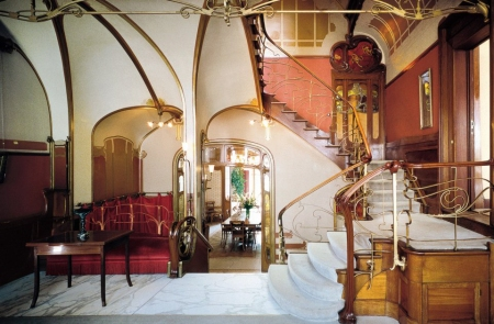 The home and studio of Victor Horta in Brussels, Belgium is now the Horta Museum.