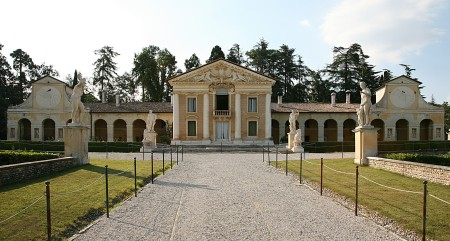 Villa Barbaro, in Maser, Italy, was designed by Andrea Palladio.