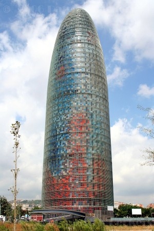 Torre Agbar, in Barcelona, was designed by Jean Nouvel.