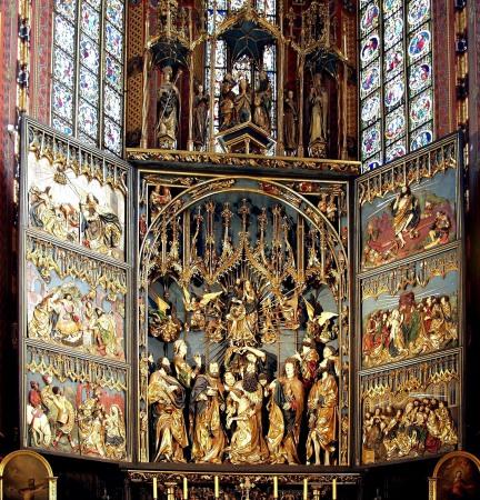 The Altar of Veit Stoss in St. Mary's Basilica, Krakow, Poland.