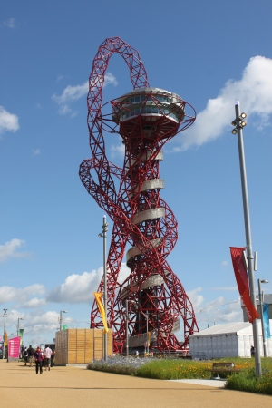 The ArcelorMittal Orbit was designed for the 2012 London Olympics by Anish Kapoor.