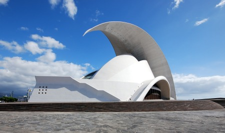 Auditorio de Tenerife, in the Canary Islands of Spain, was designed by Santiago Calatrava.