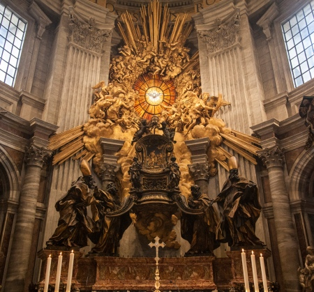 The Cathedra Petri, by Bernini, in St. Peter's Basilica.