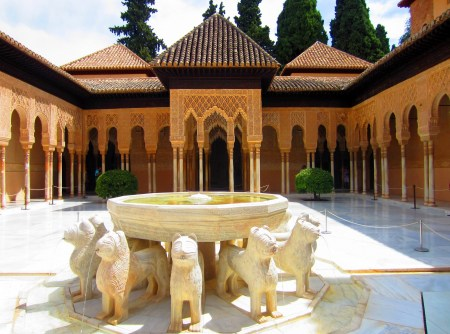 The Court of Lions in the Alhambra.