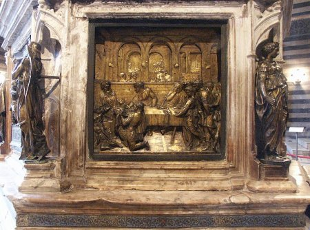 Donatello's Feast of Herod is part of the Baptistery in Siena.