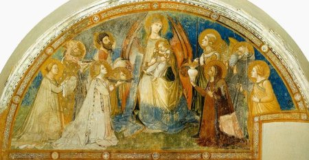 A fresco by Ambrogio Lorenzetti in the Sant'Agostino Church in XX.