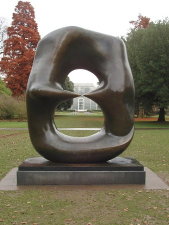 Oval with Points, by Henry Moore, is located at Kew Gardens, UK.