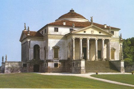 A view of Andrea Palladio's influential Villa Rotunda.