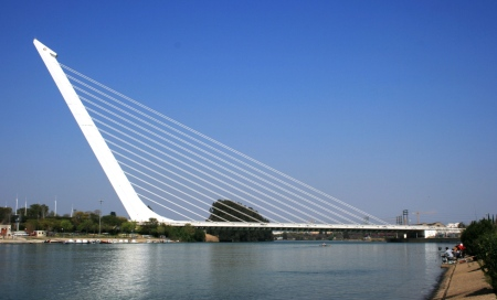 Puente del Alamillo is a bridge designed by Santiago Calatrava and located in Seville, Spain.