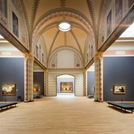 An interior view of the Rijksmuseum in Amsterdam.