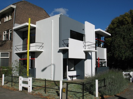 Gerrit Rietveld designed the Schröder House, which is located in Utrecht, The Netherlands.