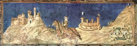 Simone Martini's Equestrian Portrait of Guidoriccio da Fogliano in the Siena's Palazzo Pubblicc