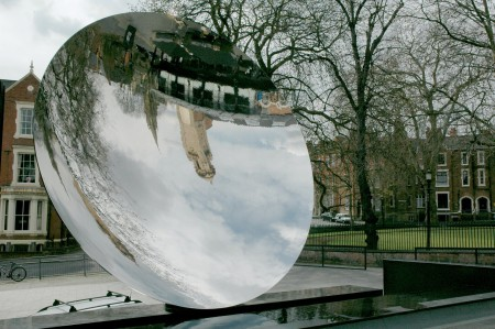 Sky Mirror, by Anish Kapoor, located in Nottingham, UK.