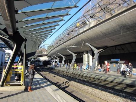 Stadelhof Railway Station, in Zürich, Switzerland, was designed by Santiago Calatrava.