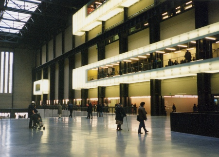 An interior view of Tate Modern in London.