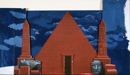 David Hockney's set design for the 1978 Glyndebourne production of The Magic Flute.