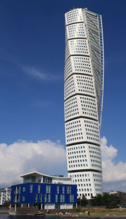 Located in Malmö, Sweden, Turning Torso was designed by Santiago Calatrava.