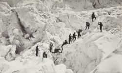 One of a series of photographs by the Bisson brothers of the Ascent of Mont Blanc, the highest peak in the Alps.