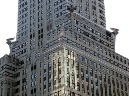 Detail of the Chrysler Building.