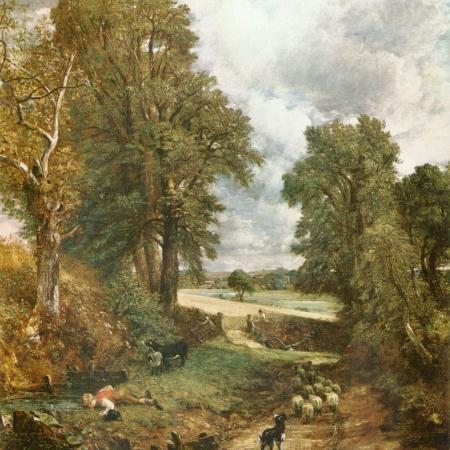 John Constable's landscape painting, The Cornfield.