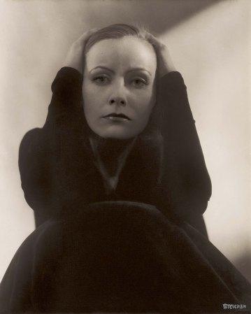 Edward Steichen's 1928 photographic portrait of Greta Garbo.