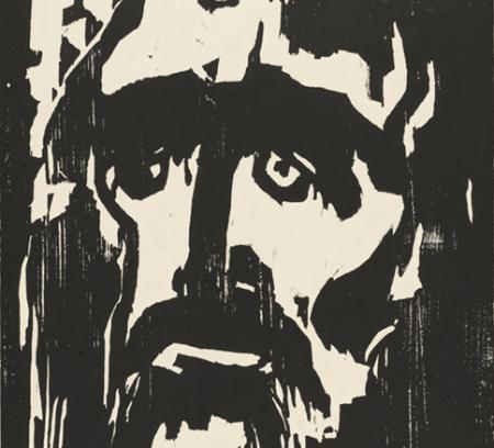 Detail of Emil Nolde's print The Prophet.