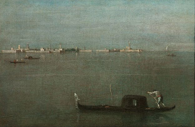 Francesco_Guardi_-_Gondolas_on_the_Lagoon_(Grey_Lagoon)