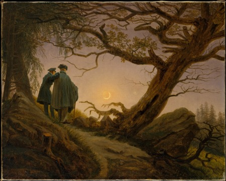 Caspar David Friedrich's Two Men Contemplating the Moon.