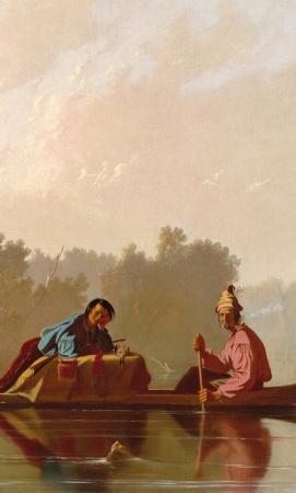 Detail of George Caleb Bingham's Fur Traders Descending the Missouri.