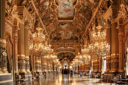 The ballroom of Charles Garnier's Paris Opera House.
