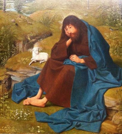 Detail of St. John the Baptist in the Wilderness, by Geertgen tot Sint Jans.