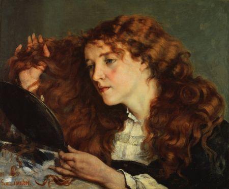 Jo, La Belle Irlandaise, a portrait by Gustave Courbet.