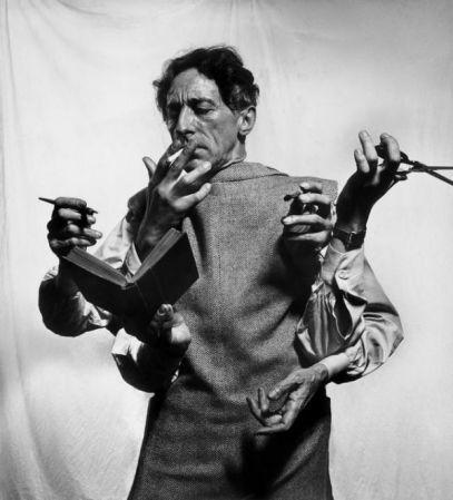 The Versatile Jean Cocteau is a photograph by Philippe Halsman.