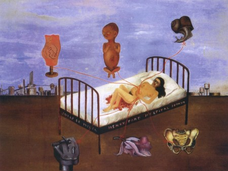 Henry Ford Hospital is a painting by Frida Kahlo.