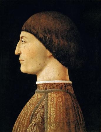 The Portrait of Sigismondo Malatesta by Piero della Francesca.