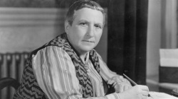 An undated photo of Gertrude Stein.