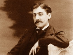 An undated photograph of Marcel Proust.