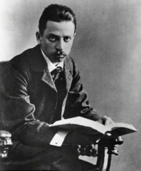 An 1897 photo of Rainer Maria Rilke.