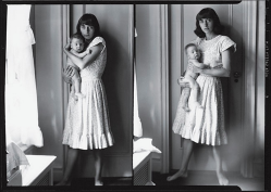 """Double Self Portrait with Doon"", a 1945 diptych by Diane Abbott (later Diane Arbus)."