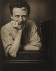"Edward Steichen's ""Self Portrait with Studio Camera"", from 1917."