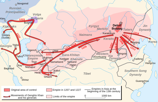 Genghis Khan's empire.