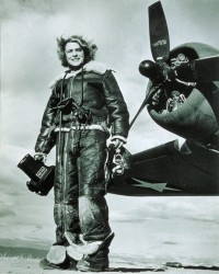 A 1943 self portrait by Margaret Bourke-White.
